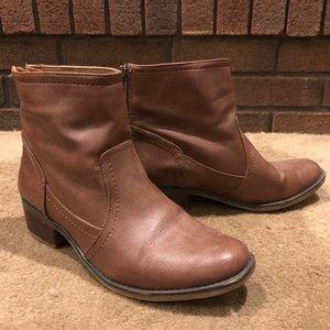 BareTraps Brown Ankle Boots